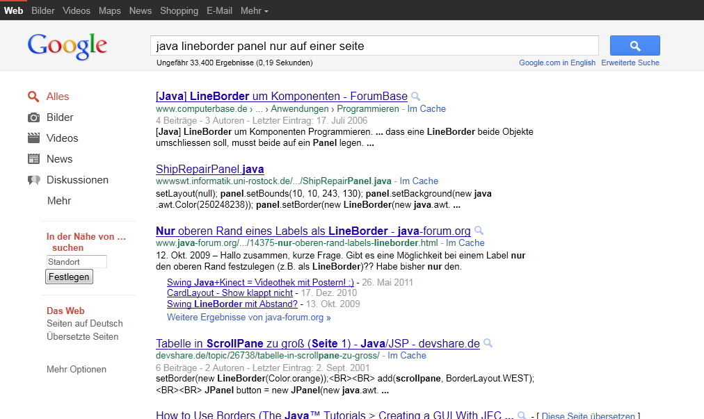Neues Google Layout